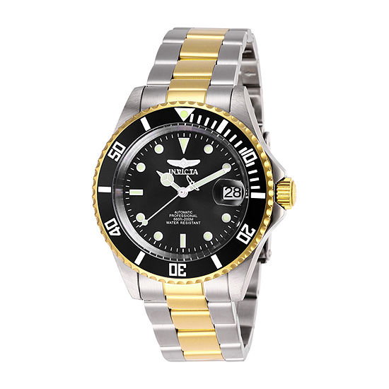 Invicta Pro Diver Mens Automatic Two Tone Stainless Steel Bracelet Watch-28663
