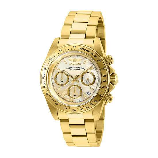 Invicta Speedway Mens Gold Tone Stainless Steel Bracelet Watch-28669