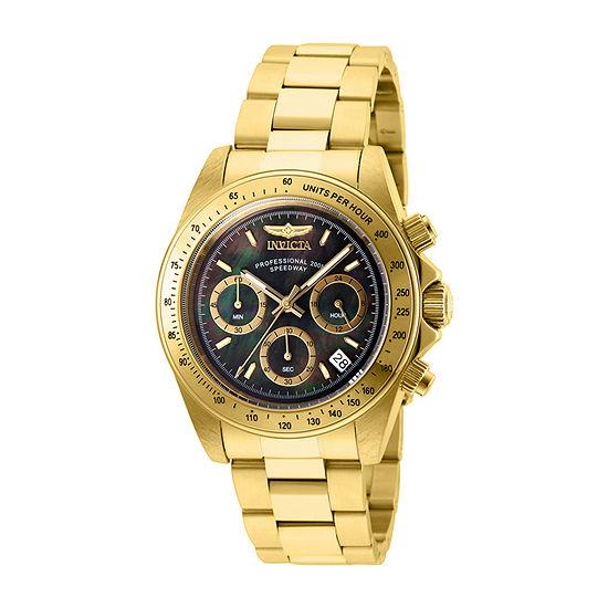Invicta Speedway Mens Gold Tone Stainless Steel Bracelet Watch-28670