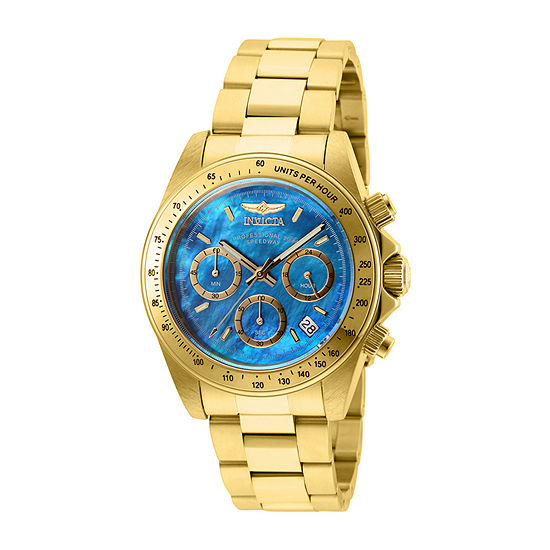 Invicta Speedway Mens Gold Tone Stainless Steel Bracelet Watch-28671