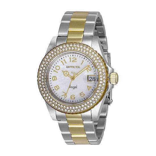 Invicta Angel Womens Two Tone Stainless Steel Bracelet Watch-28675