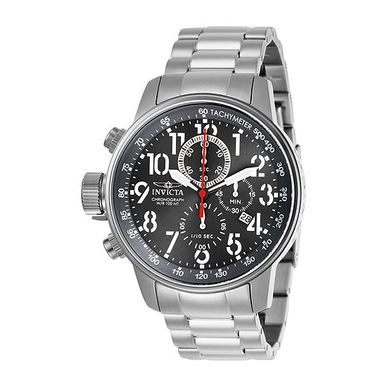 Invicta I-Force Mens Silver Tone Stainless Steel Bracelet Watch-28743
