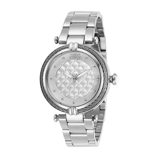 Invicta Bolt Womens Silver Tone Stainless Steel Bracelet Watch-28923
