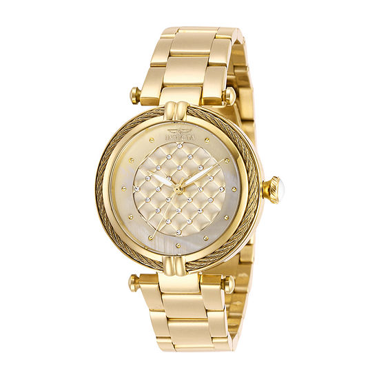 Invicta Bolt Womens Gold Tone Stainless Steel Bracelet Watch-28927