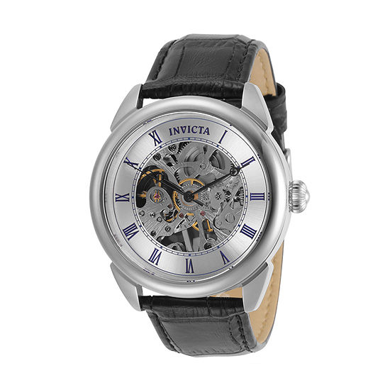 Invicta Specialty Mens Black Leather Strap Watch-31153