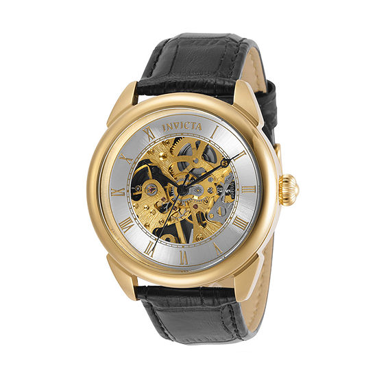 Invicta Specialty Mens Black Leather Strap Watch-31154