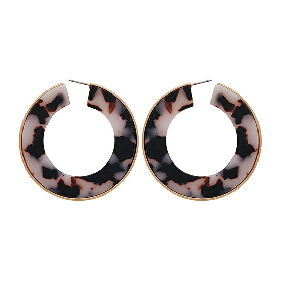 Bijoux Bar Resin Hoop Earrings
