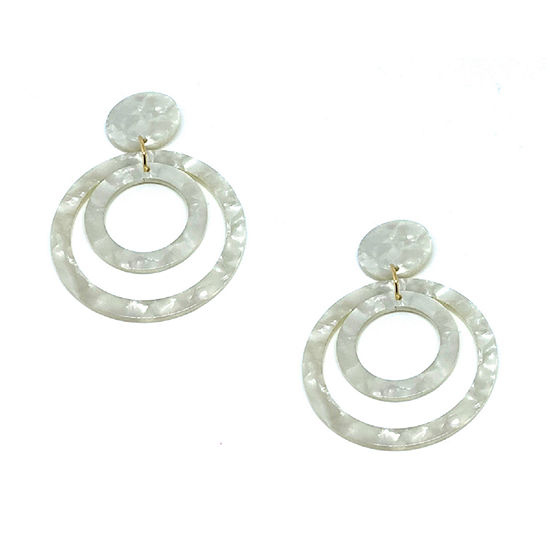 Bijoux Bar Resin Circle Drop Earrings