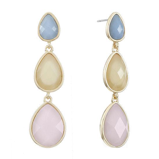 Liz Claiborne Multi Color Pear Drop Earrings