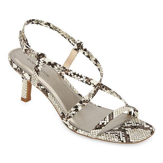 Worthington Womens Wor Grant Heeled Sandals