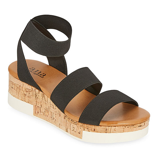 a.n.a Womens Eliza Wedge Sandals