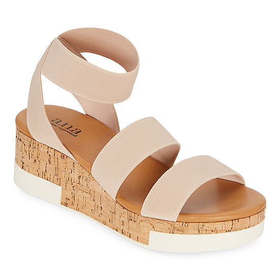 a.n.a. Womens Eliza Wedge Sandals