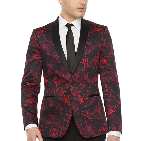 JF J.Ferrar Mens Super Slim Fit Tuxedo Jacket