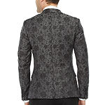 JF J.Ferrar Mens Floral Super Slim Fit Tuxedo Jacket