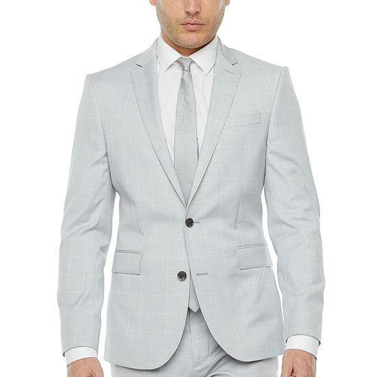 JF J.Ferrar Ultra Windowpane Stretch Suit Jacket