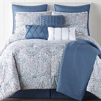 Jcpenney Home Audrey 10 Pc Comforter, Jcpenney Bed Sheets Queen