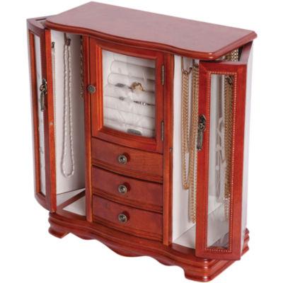 Mele & Co. Richmond Upright Walnut-Finish Wood Jewelry Box