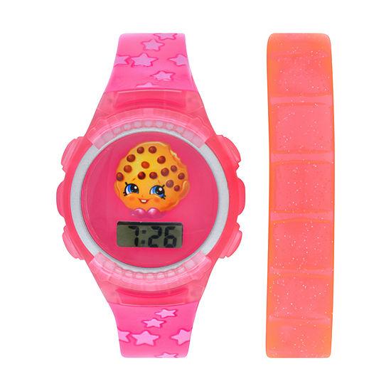 Shopkins Girls Digital Pink Strap Watch-Kin4014jc