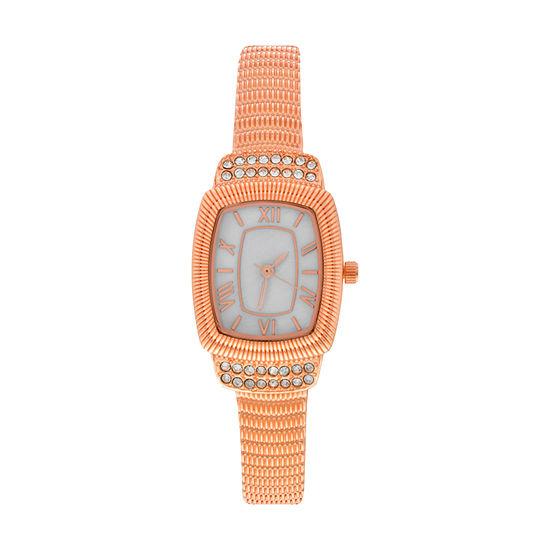 Mixit Womens Rose Goldtone Bangle Watch Wac4405jc
