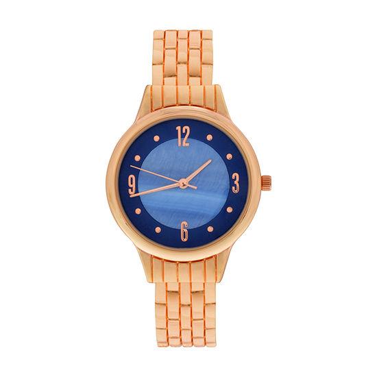 Mixit Womens Rose Goldtone Bangle Watch-Wac4410jc