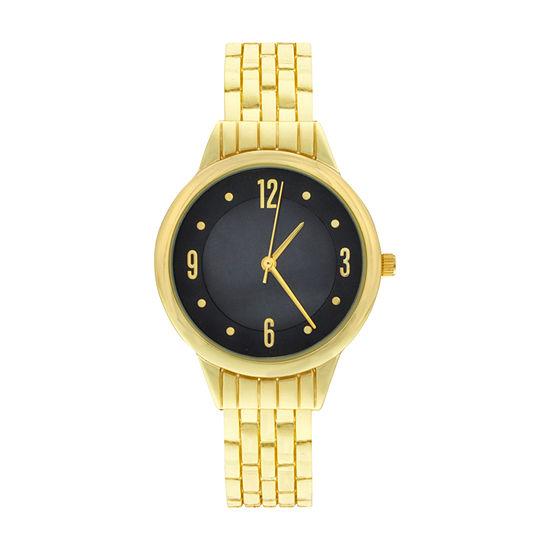 Mixit Womens Gold Tone Bangle Watch-Wac4407jc
