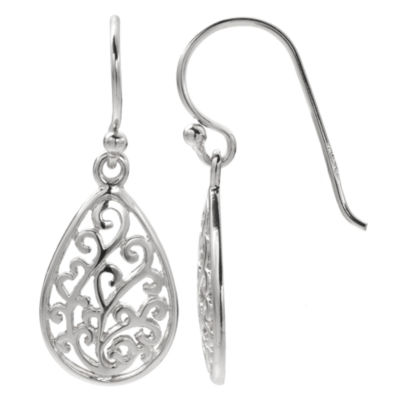 Silver Treasures The Skinny Drop Earrings
