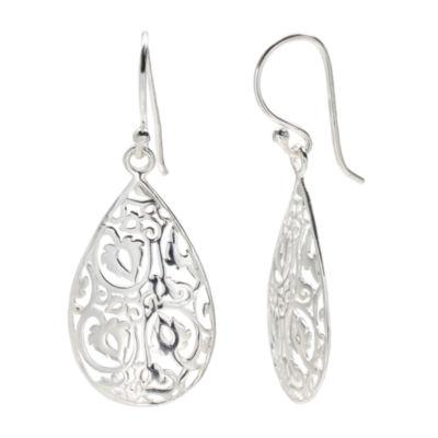 Silver Treasures The Skinny Drop Earrings