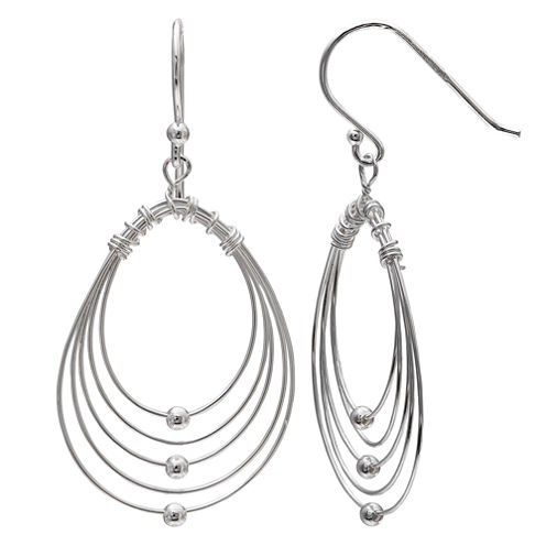 Silver Treasures Sterling Silver Drop Earrings