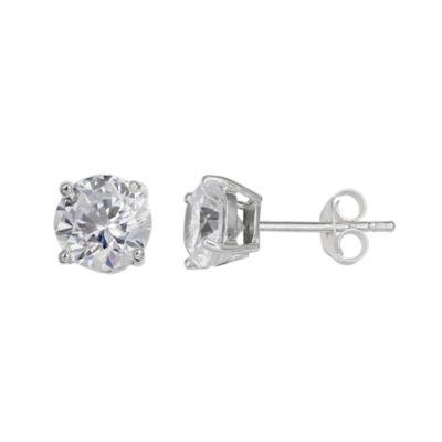 Silver Treasures 4mm Stud Earrings