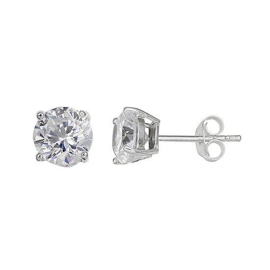 Silver Treasures 4mm Stud Earrings