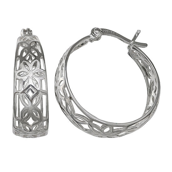 Silver Treasures Hoop Earrings