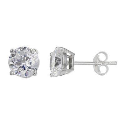 Silver Treasures 8mm Stud Earrings