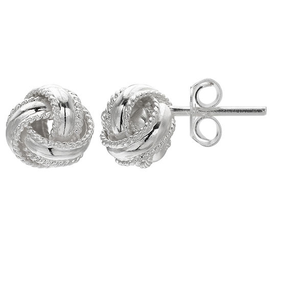 Silver Treasures 7mm Stud Earrings