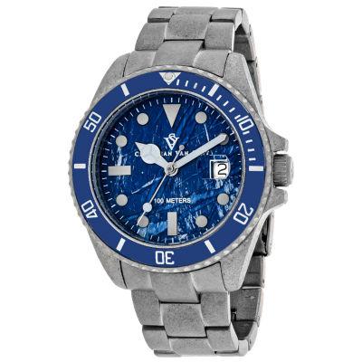 Christian Van Sant Mens Silver Tone Bracelet Watch-Cv5103b