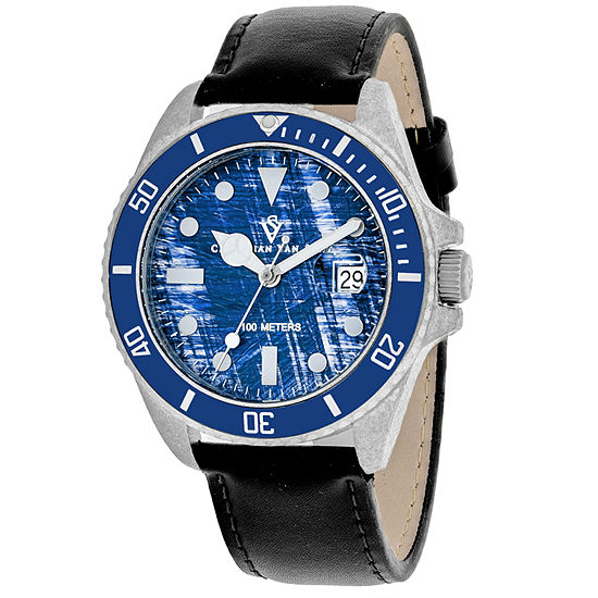Christian Van Sant Mens Black Strap Watch Cv5103lb
