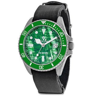 Christian Van Sant Mens Black Strap Watch-Cv5202b