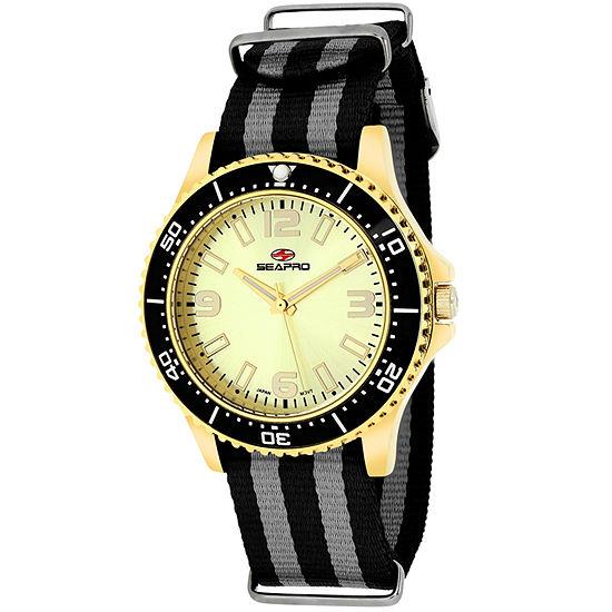 Sea-Pro Tideway Womens Two Tone Strap Watch-Sp5419nbk