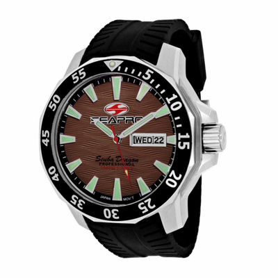 Sea-Pro Scuba Diver Limited Edition Mens Black Strap Watch-Sp8315