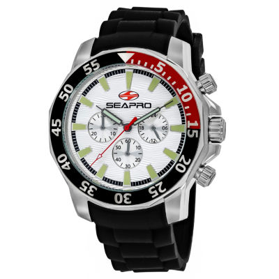 Sea-Pro Scuba Explorer Mens Black Strap Watch-Sp8330
