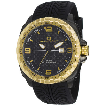 Oceanaut Mens Black Strap Watch-Oc1112