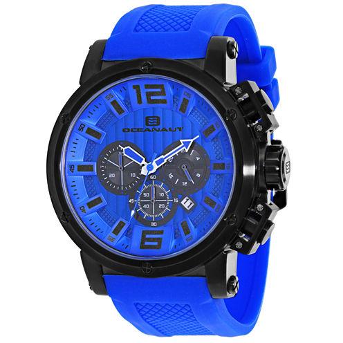 Oceanaut Mens Blue Strap Watch-Oc2141