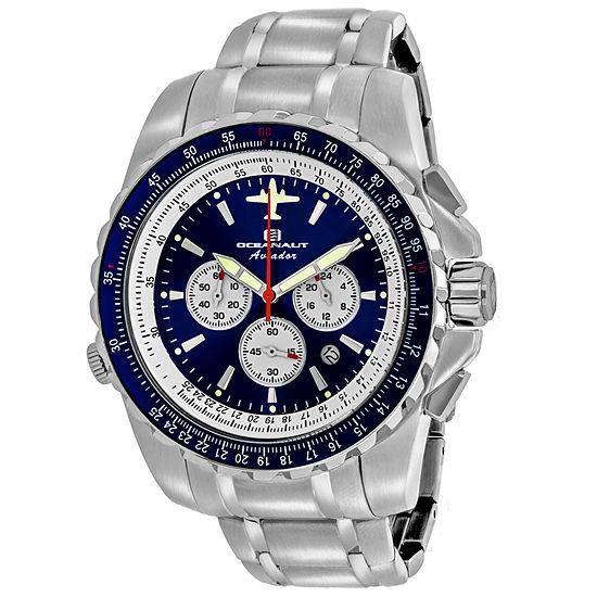 Oceanaut Mens Silver Tone Stainless Steel Bracelet Watch - Oc0113