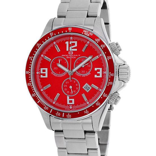 Oceanaut Mens Silver Tone Stainless Steel Bracelet Watch-Oc3322