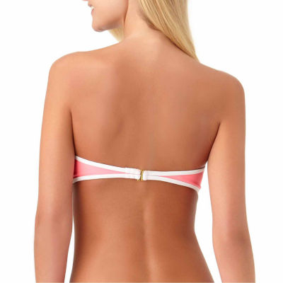 Arizona Colorblock Bandeau Swimsuit Top-Juniors