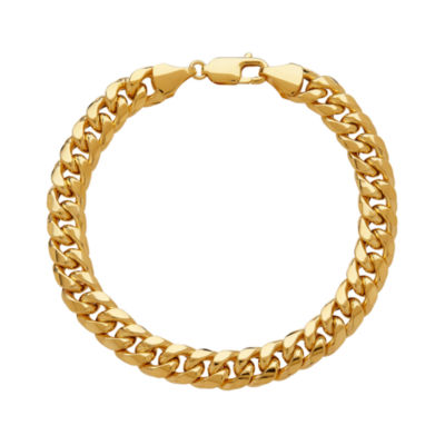 Made in Italy 10K Gold 9 Inch Hollow Link Bracelet