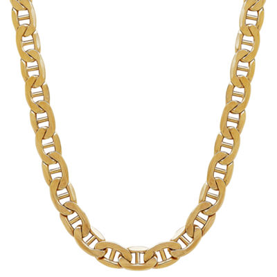 Made In Italy 10K Gold Hollow 22 Inch Chain Necklace
