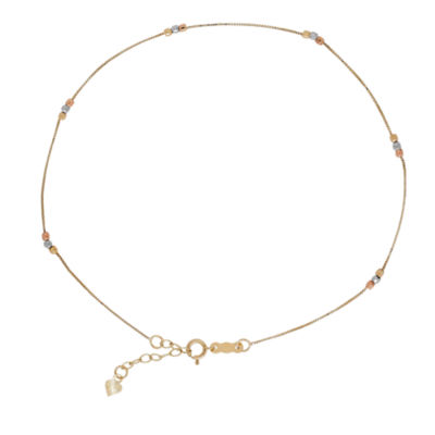 Womens 14K Gold Ankle Bracelet