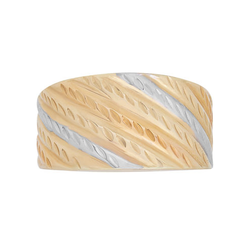 Womens Tri Color 14K Gold Band