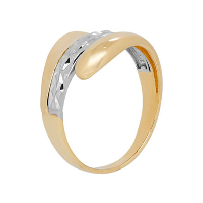 Womens 14K Gold Bypass Ring