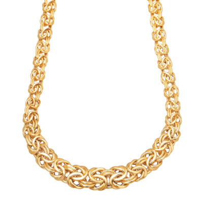 Made In Italy Womens 17 Inch 14K Gold Link Necklace
